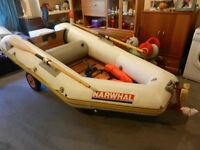 3 Man semi rigid inflatable with 2.5HP 4 stroke Yamaha outboard engine