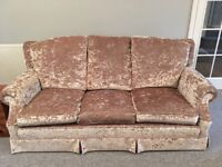 Beautiful 3 seater sofa with two matching armchairs