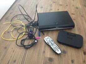 Sky+ HD box, sky internet hub, sky remote and all connecting cables in