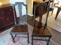 Matching Pair of Victorian Chairs