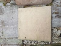 Paving stones 60cm x 60cm buff colour riven texture