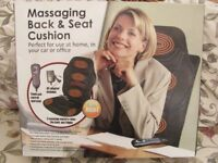ELECTRIC BACK AND SEAT MASSAGER FOR CAR, OFFICE OR HOME CHAIR