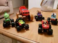 Blaze cars toys monster trucks