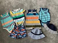7 items- 6-12 months boys summer bundle