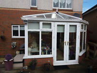 Conservatory White UPVC Used Ready for Pick Up
