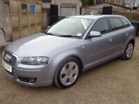 2006 Audi A3 Sport 2.0 TDI Diesel 5 Door Silver FSH Long MOT Low Miles & 3 Months Warranty