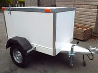 STUNNING QUALITY BOX TRAILER 4FT X 3FT 5OOKG GROSS WEIGHT ~MUST SEE~