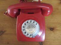Two GPO 746 dial telephones