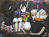 Full ice hockey gear