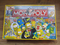 THE SIMPSONS MONOPOLY - 2003 - PARKER BOARD GAME, EXCELLENT CONDITION, HARDLY USED, GREAT CHRISTMAS
