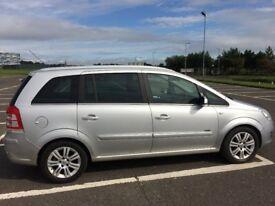 08 vauxhall zafira design.5 door mpv.7 seats.12 months mot/warranty.petrol.manual