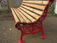 ANTIQUE COALBROOKDALE STYLE GARDEN BENCH