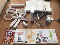 Wii bundle console games and accessories