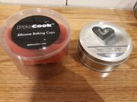 Heart shaped cutters, silicone cases & slate placemats. All new