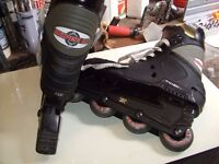Inline roller boots and snow boots excellent cond