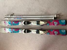Girls ski's and pole set 120, in used condition but plenty of life left in them £40 ono