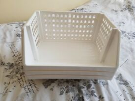 Storage stackable trays