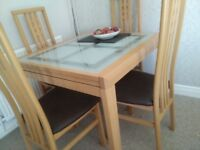 DINING TABLE AND CHAIRS / SIDEBOARD