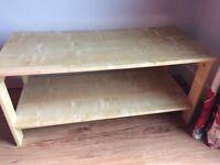 Ikea pine effect small coffee table