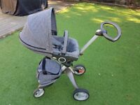 Stokke Xplory v3 black melange (grey) buggy stroller. No offers