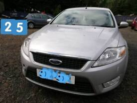 2010 Ford Mondeo Zetec TDCI, Silver, Diesel,1,753 cc, 125 BHP. For Breaking.