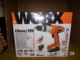 Worx 13mm/18v Cordless Hammer Drill