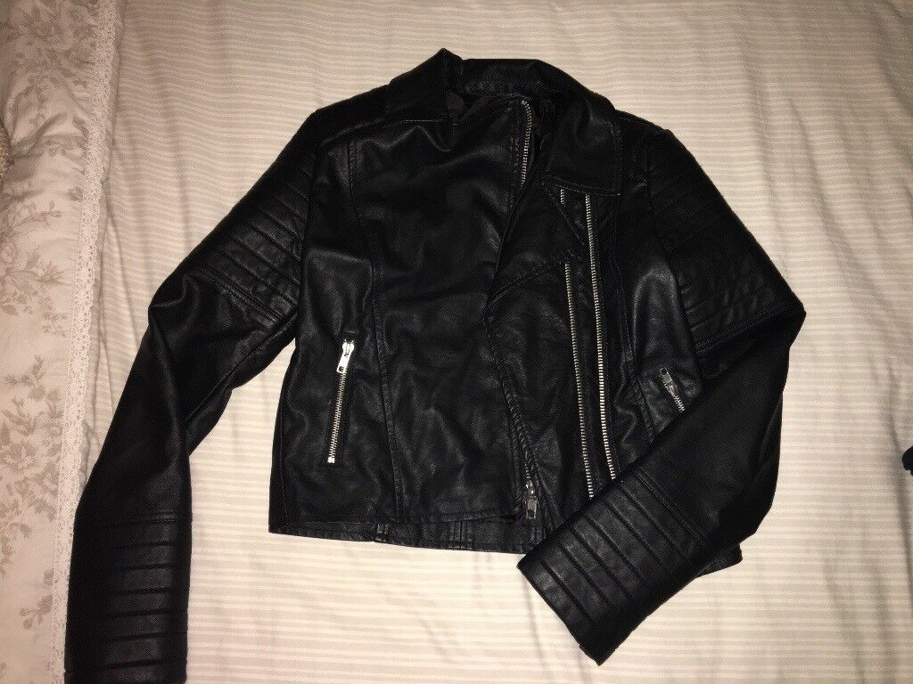 Brand New Girls Leather Jacket 14-15yrs