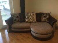 4 Seater Sofa and Cuddler Chair