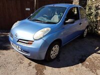 2003 NISSAN MICRA 1.2 IDEAL FIRST CAR CHEAP ON FUEL TAX AND INSURANCE MOTED UNTIL JUNE 2017
