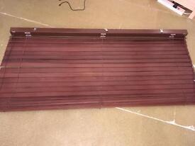 Brown wooden blind