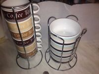 Stackable Cups/mugs and bowl sets.