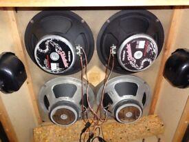 Vintage Guitar Speaker Cabinet. 4 x Celestion Speakers.