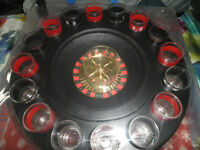 Premier Housewares Roulette 16 Glass Lucky Shot Drinking Game (UNOPENED)