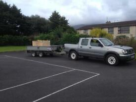 2001 Nissan Navara double cab pick up silver base modle