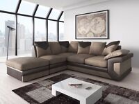 **1 YEAR WARRANTY!** - Dino Premium Fabric Corner Sofa Suite - Express delivery