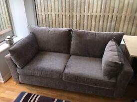 2 seater Next sofa - grey elegant velour