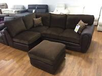 Brand new wyvern corner sofa and pouffee.