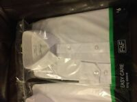 x2 Men's White long sleeved brand new shirts, size 15.5