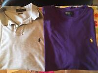 Mens Ralph Lauren Polo Shirt & T Shirt. XL £25 for both.