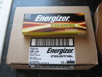 ENERGIZER INDUSTRIAL BATERIES AA BOX OF 120 theres 12 packs of 10