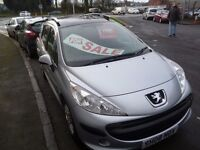 Peugeot 207 s sw estate,1 previous owner,2 keys,panoramic sunroof,runs and drives very well