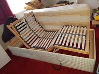 SINGLE ELECTRIC BED IN EXCELLENT CONDITION WITH MATTRESS HARDLY USED