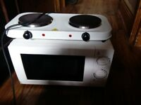 REDUCED Microwave and Electric double hob