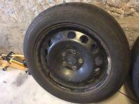 "4x 16"" Apollo Winter Tyres on Steel Wheels PCD 5 x 112"