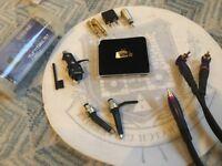 Technics 1200 Headshell + Sure M447 Cartridge + 1 stylus + 2x Ortofone Concorde + MANY MORE