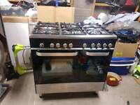Kenwood dual fuel double oven range cooker