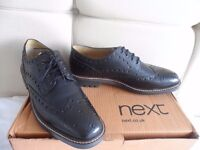 mens brougues ( shoes brougue ) brand new NEXT SIZE 10 black bargain