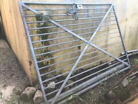 Galvanised steel security gate