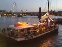 Private boat party bookings / Venue for hire and 130 capacity with 3am license in central London