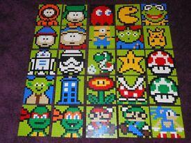 Lego character mosaics £10 each